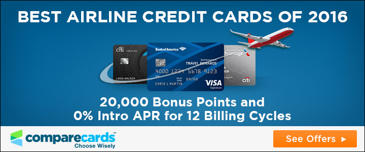 best airline credit cards of 2016