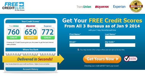 Free Credit Click screenshot