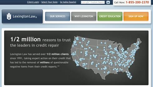 Lexington Law screenshot
