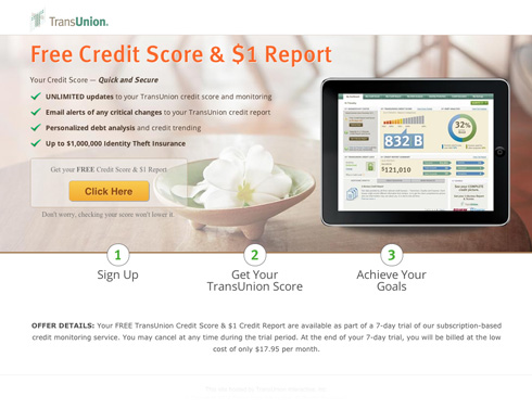 Transunion screenshot