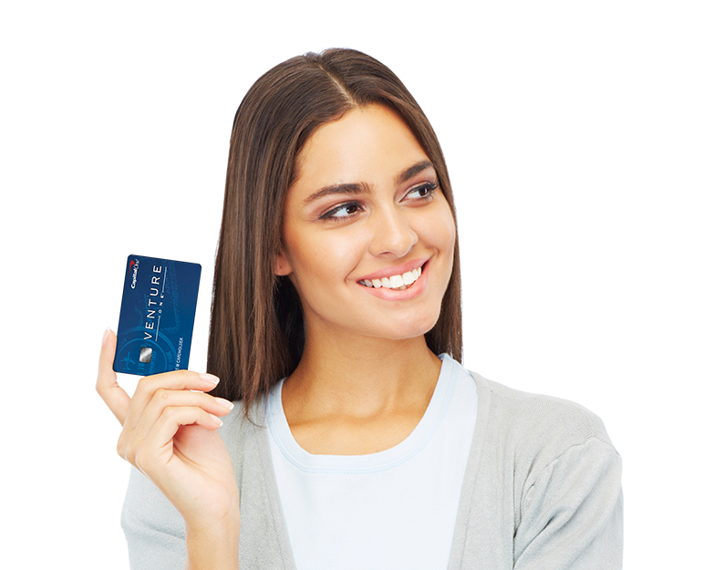 lady holding a credit card