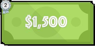 $1,500 price