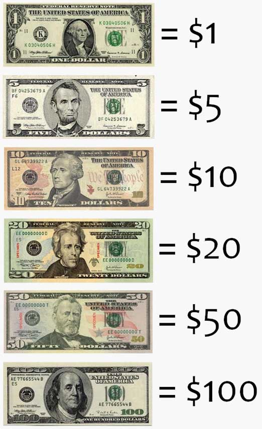 dollar and the amount