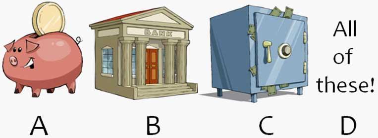 Piggy bank, bank, storage case