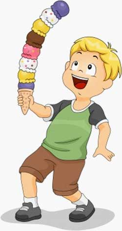Kids with ice cream cone