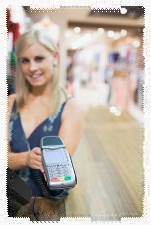 Girl with credit card slider