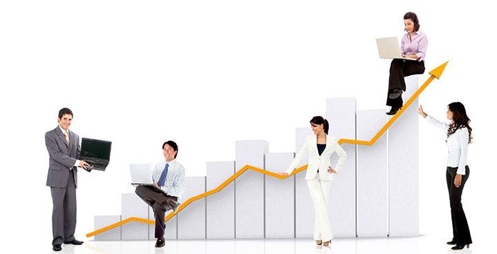 Stock chart increasing
