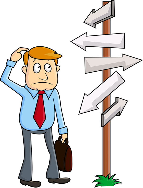 Man not sure of which direction to go to