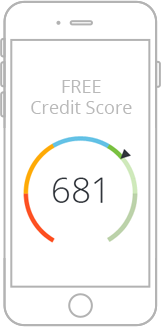 Mobile device with credit score displayed