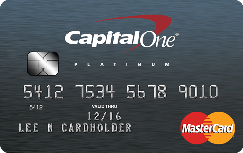 Capital One® Platinum Credit Card – Platinum MasterCard