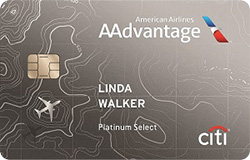 Citi<sup>®</sup> / AAdvantage<sup>®</sup> Platinum Select<sup>®</sup> World Elite™ Mastercard<sup>®</sup>