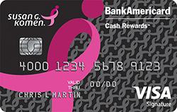 susan g. komen credit card