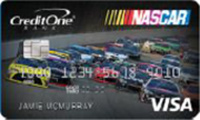 nascar credit card from credit one bank