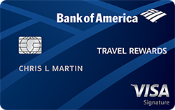 bank of america travel rewards credit card - 25,000 bonus points offer