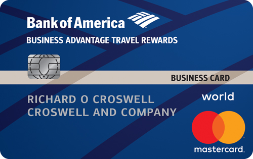 Bank of America<sup>&reg;</sup> Business Advantage Travel Rewards World Mastercard<sup>&reg;</sup> credit card