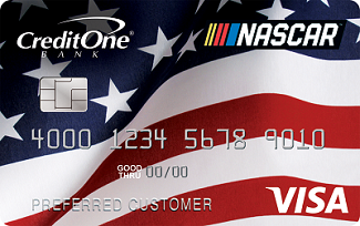 official nascar credit card from credit one bank