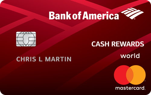 Cash Back Credit Card: BankAmericard
