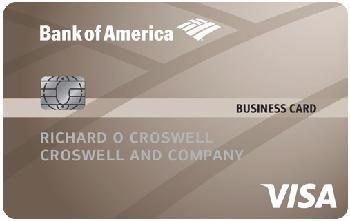 Bank of America<sup>&reg;</sup> Platinum Visa<sup>&reg;</sup> Business Credit Card