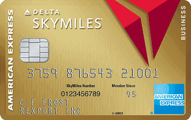 Gold Delta SkyMiles<sup>®</sup> Business Credit Card from American Express