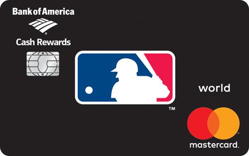 mlb cash rewards mastercard from bank of america