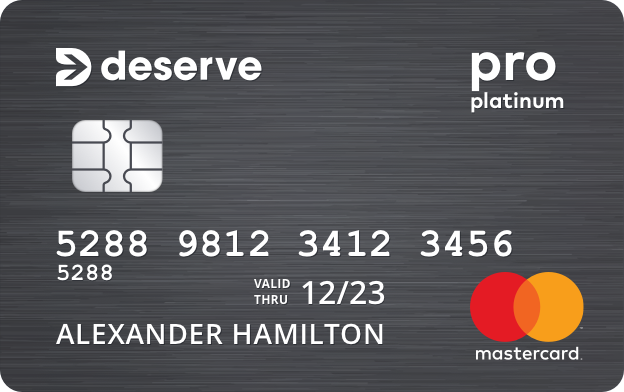 Deserve<sup>&reg;</sup> Pro Mastercard