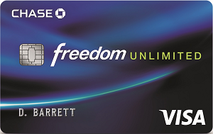 Chase Freedom Unlimited<sup>&reg;</sup>