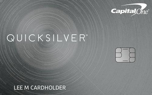 Capital One<sup>&reg;</sup> Quicksilver<sup>&reg;</sup> Cash Rewards Credit Card