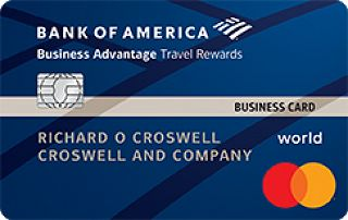 Bank of America<sup>®</sup> Business Advantage Travel Rewards World Mastercard<sup>®</sup> credit card