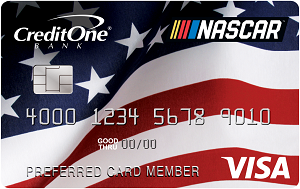 Official NASCAR<sup>®</sup> Credit Card from Credit One Bank<sup>®</sup>