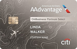 CitiBusiness<sup>®</sup>/ AAdvantage<sup>®</sup> Platinum Select<sup>®</sup> World Mastercard<sup>®</sup>
