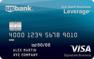 u.s. bank business leverage visa signature card