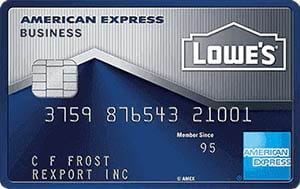 Lowe's Business Rewards Card from American Express