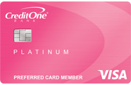 Credit One Bank<sup>®</sup> Platinum Visa<sup>®</sup> with Cash Back Rewards