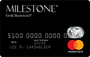 Milestone<sup>®</sup> Gold Mastercard<sup>®</sup>