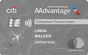 CitiBusiness<sup>®</sup>/ AAdvantage<sup>®</sup> Platinum Select<sup>®</sup> Mastercard<sup>®</sup>