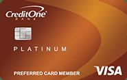 credit one bank platinum visa with cash back rewards