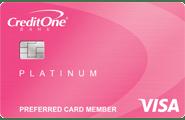 Credit One Bank<sup>®</sup> Platinum Visa<sup>®</sup> with Cash Back Rewards