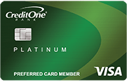credit one bank platinum visa for rebuilding credit