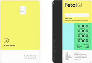 petal 2 cash back, no fees visa credit card