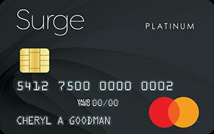 surge mastercard credit card
