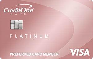 credit one bank platinum rewards visa with no annual fee